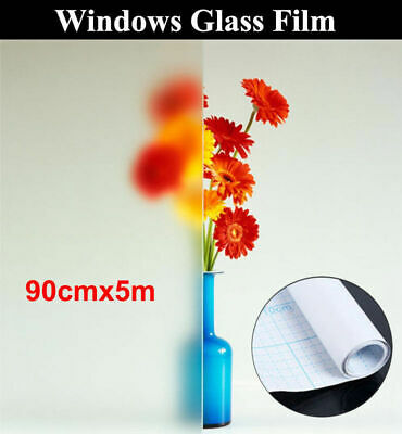 90cm*5m Removable Windows Glass Film Sand Blast Clear Privacy Frosted AU Ship