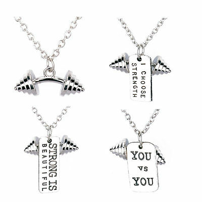 Fashion Jewelry Necklaces & Pendants Live Fit ™ Weight Plate Motivation Jewellery Necklace Gym Fitness Bodybuilding