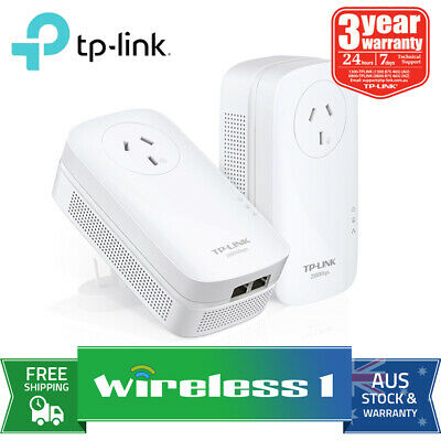 Brand New TP-Link TL-PA9020P KIT AV2000 2-Port Gigabit Passthrough Powerline kit