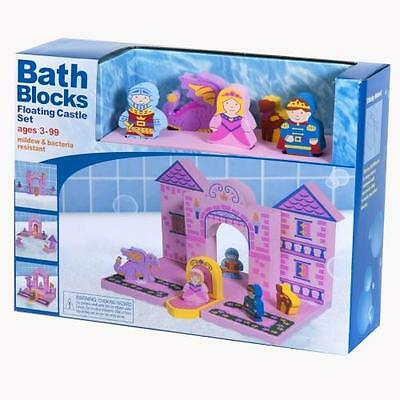 NEW Bath Blocks Pink Floating Castle Set - Childrens Bath Toys