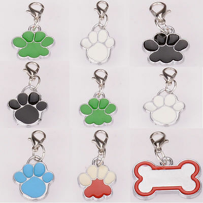 New Fashion Personalised ID Pet Tag Paws  Dog Tags Charms Accessories Pendant