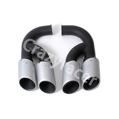 Tail Exhaust Tips Muffler Pipe for Porsche Cayenne V6 2011-2014