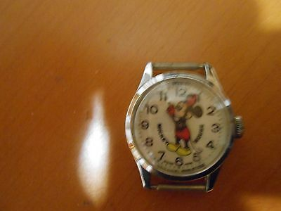 Disney 1970's Mickey Mouse Watch with Mickey's movable arms