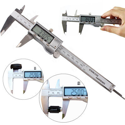 "6"" Stailess steel Digital LCD Vernier Caliper Electronic Micrometer Measurement"