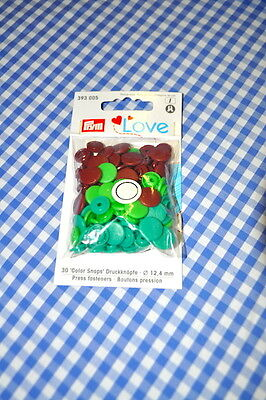 Prym Love Poppers Snaps 30 Pieces Multicolour Brown Green Petrol