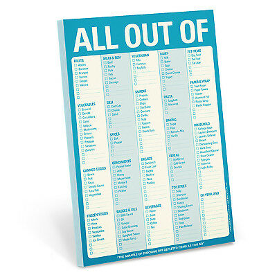 Knock Knock All Out Of (Cyan) - Note Pad
