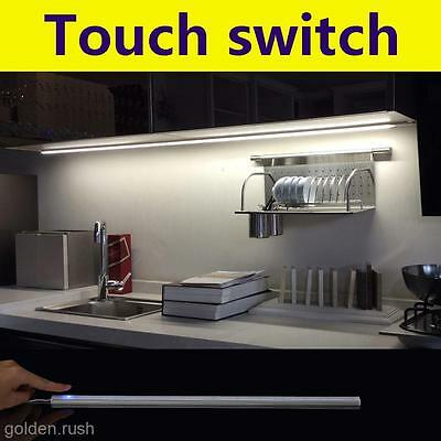 Dimmable 20 LED Touch Sensor Light Kitchen Under Cabinet Bar Tube Lamp+USB Cable
