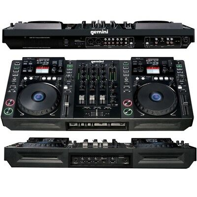 GEMINI CDMP 7000 consolle controller all-in-one usb midi touch 2 deck 1 mixer