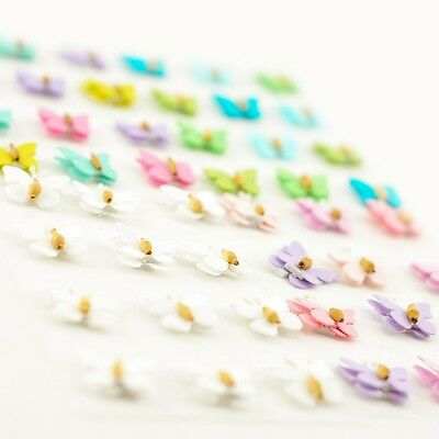 3D Coloured Butterflies for Card Scrapbooking Embellishments Craft - 12 Pcs