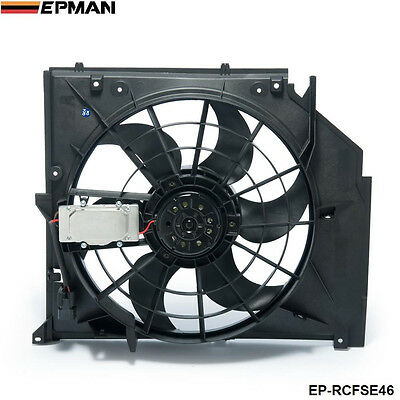 EPMAN Radiator Condenser Cooling Fan (Brushless Motor) For BMW 3 Series E46