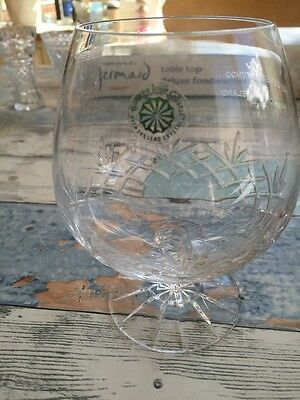 Galway Crystal Brandy Glass Engraved General Synod Church Of Ireland