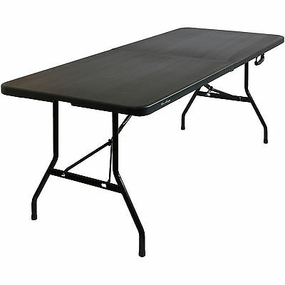 Hartleys 6Ft Black Folding Trestle Table Outdoor Camping/bbq/garden/catering