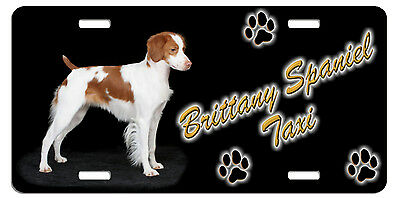 Brittany Spaniel 1 Taxi Line License Plate (( LOW CLEARANCE PRICE ))