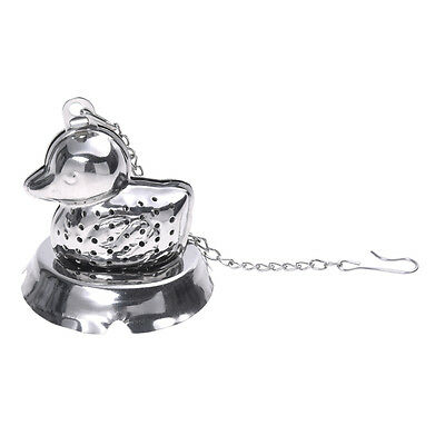 Duck Shape Stainless Steel Infuser Filter Strainer Tea Ball Spoon DT