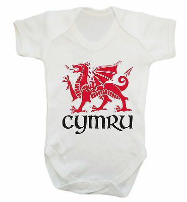 Cymru baby vest welsh dragon wales st davids day football proud flag cute 1483