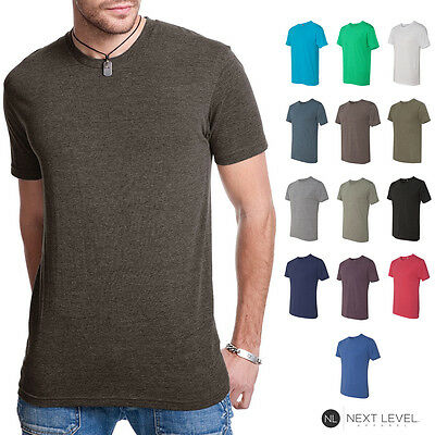 Next Level Premium Mens Tri Blend Crew Neck T-Shirt Athletic Fit Tee Shirt 6010