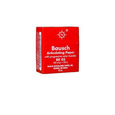 "Bausch .008"" (200 microns) Red Articulating Paper Strips, 300 Strips BK02"