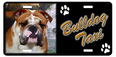 Bulldog  Taxi Line License Plate (( LOW CLEARANCE PRICE ))