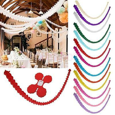 3M Paper Bunting Banner Birthday Wedding Party for Hanging Decoration Garland