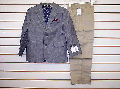 Toddler & Boys Nautica 2pc Heather & Khaki Suit Size 3T/3 - 7