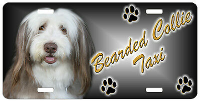 Bearded Collie  Taxi Line License Plate (( SPECIAL LOW CLEARANCE PRICE ))