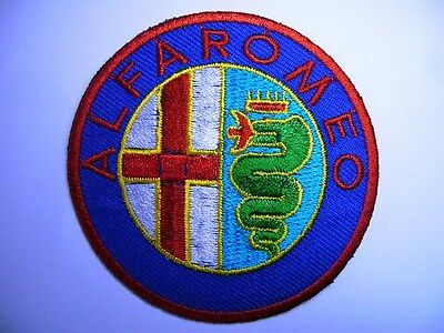 ALFA ROMEO Passion IRON SEW ON PATCH EMBROIDERED ITALY CAR  Quadrifoglio Verde
