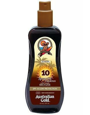 Australian Gold Spray Gel Effetto Bronze SPF10 LOW PROTECTION