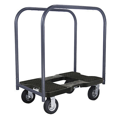 1500 Lb Air-Ride Professional E-Track Panel Cart Dolly Black