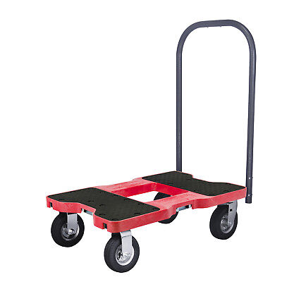 1500 Lb Air-Ride Professional E-Track Push Cart Dolly Red