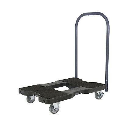 1500 Lb Industrial Strength Professional E-Track Push Cart Dolly Black