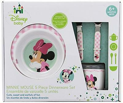 Disney Baby Melamine Set, Minnie Mouse, New, Free Shipping