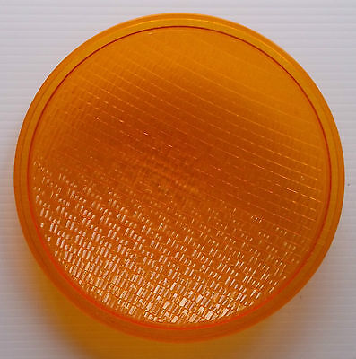 Lexan 148B283 Orange Plastic Lens Cover With Rubber gasket