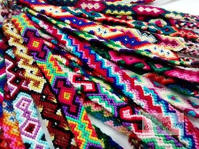 100 Peruvian 100 % Wool Friendship Bracelets **handmade In Cusco**
