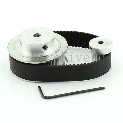 HTD3M 48/16 Tooth 16mm wide Timing Pulley Belt set kit Reducer Ratio 3:1 for CNC