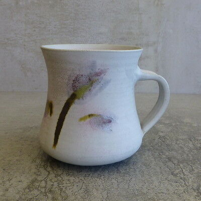 Handcrafted Pottery Coffee Mug 250ml LL in Heart potters mark Australian