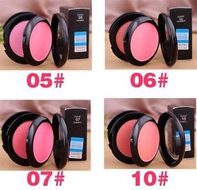 Color Makeup Blush Soft Face Blusher Powder Palette Cosmetic Mirror Brush