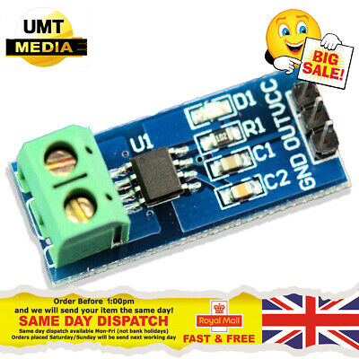 20A ACS712 Module Measuring Range Current Sensor Hall Board For Arduino PI NEW