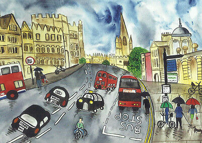 "Fridge Magnet, Oxford, High street   Quirky Large  4.25"" by 5.5"""