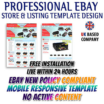 Marvelous eBay Store HTML, Listing Mobile Responsive Templates for Electronics