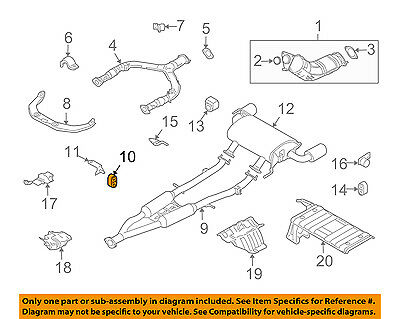 20651Ca000 Exhaust Pipe Support For Nissan 20651-Ca000
