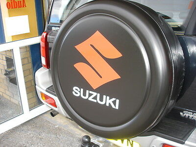 SUZUKI JIMNY GRAND VITARA 4x4 SEMI-RIGID SPARE WHEEL COVER - BLACK WITH LOGO