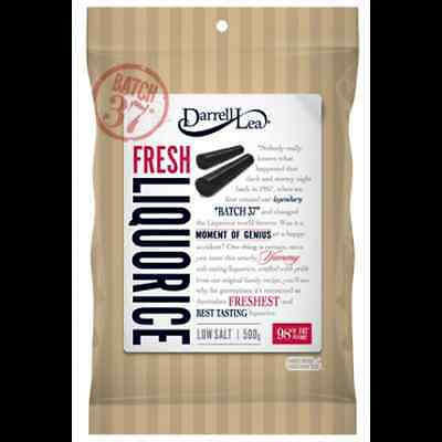 Darrell Lea Fresh Black Liquorice Batch 37 1kg Lolly Candy Party