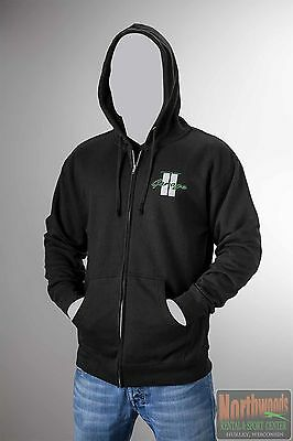 Arctic Cat Men's Snowmobile Garage Full Zip Hoodie / Sweatshirt - Black 5253-27