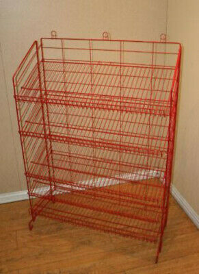 """New Retail Five Shelves Adjustable Display Rack 54""""H x37""""W x16""""D in Red"""