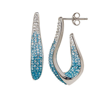 Crystaluxe Earrings with Ombré Swarovski Crystals in Sterling Silver