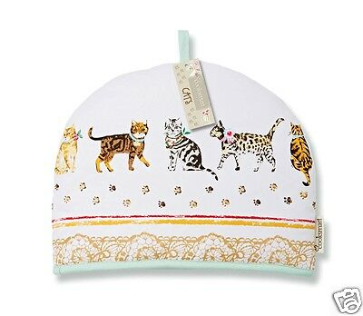 Cooksmart Cotton Tea Pot Cosy Cats On Parade Cat Pawprint