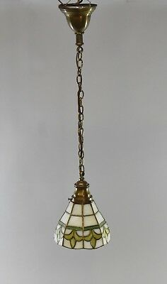 Antique Leaded Glass Pendant Light (Could be Used as a Sconce)