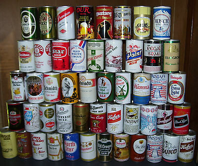 Beer Can Collection~50 Vintage Beer Can Lot~Steel~12 Oz~Mancave Special