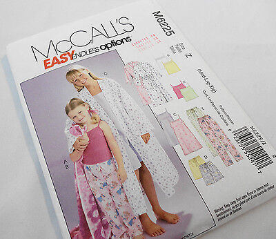 McCall's M6225 Sewing Pattern, New & Uncut, Girl's Pajamas