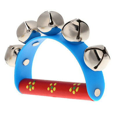 Musical Toy for KTV Kids Little Hand Held Tambourine Bell Metal Jingles Ball DT